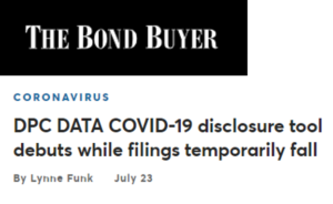 Bond Buyer article on COVID disclosure flag